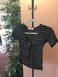 Small urban outfitters striped black and white t shirt