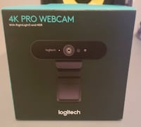 Logitech BRIO – 4K Ultra HD Webcam with 5x Digital Zoom for Recording, Streaming, and Video Calling Burnaby