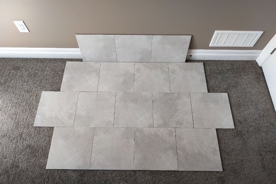 Brand New 13 x 13 White Porcelain Tiles  6