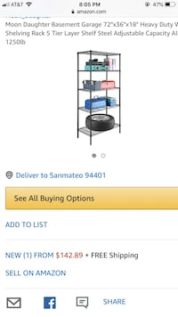 Heavy Duty Stainless Steel 5 shelves Unit San Mateo, 94403