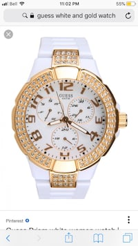Gold and white Guess prism watch Markham, L3T 2C7