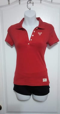 ARITZIA TNA Red Collared Shirt