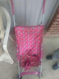baby's pink beige and grey circle pattern stroller Collins, 39428