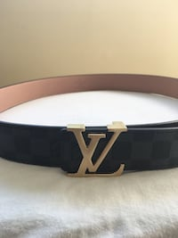 Black and Gold LV Rep Belt Mississauga, L5N 7G3