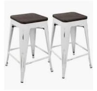 Oregon Industrial Stackable Counter Stool by LumiSource-Set of 2 Brampton, L6V 4K8