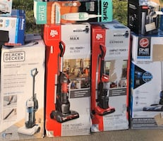 New in the box vacuums one Black & Decker one dirt devil