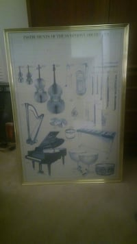 Instruments of the Symphony Orchestra Poster West Palm Beach, 33411