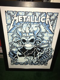 Metallica concert poster from San Diego 8/6/17 Petco Park Fullerton, 92831