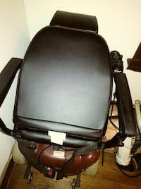Black and Red motorized chair. LITTLEROCK