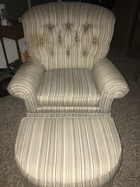 White and gray stripe sofa chair Bradenton, 34207