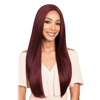 Burgundy, what lace collection frontal synthetic blend wig Winnipeg