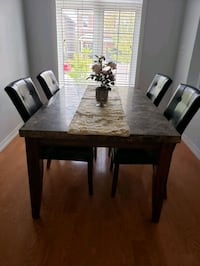Marble table with 4 chairs  Milton
