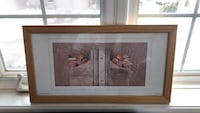 brown wooden framed painting of woman Hamilton, L0R 1P0