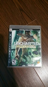 Uncharted Drake's Fortune PS3 game case