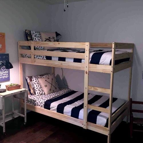 IKEA TWIN OVER TWIN BUNKBEDS WITH MATTRESSES INCLUDED