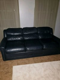 Blue real leather sofa from macys Newnan, 30263