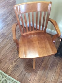 Honey Stained Swivel Desk Chair  Leesburg