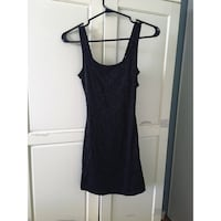 Black lace dress, size small but fits like extra small