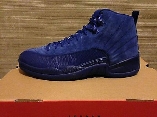 new style 5faaf d6a62 Air Jordan Retro 12 DEEP BLUE SUEDE Royal