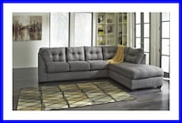 New Weathered Grey Fabric Sectional Irving