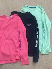 Boys L long sleeve Vineyard Vines shirts. $10 each or all three for $25 Loveland, 45140