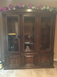 brown wooden framed glass display cabinet New Milford, 07646