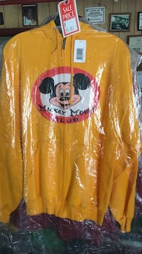 Yellow mickey mouse club zip up hoodie