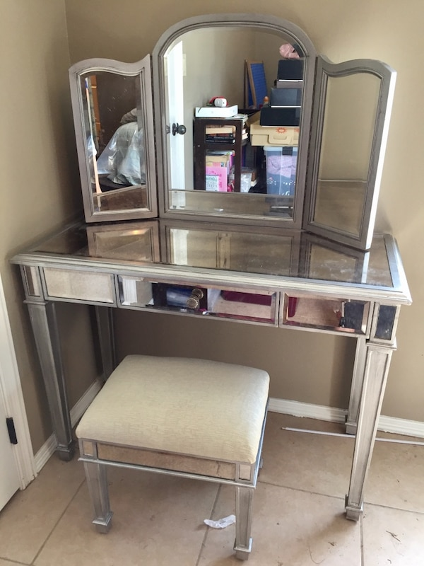 Outstanding Hayworth Collection Silver Mirror Vanity Set Pier 1 Andrewgaddart Wooden Chair Designs For Living Room Andrewgaddartcom
