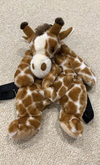 Giraffe Plush Back Pack Ashburn