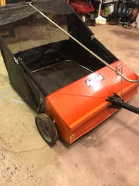 "Agri-Fab 44"" 25 cu. ft. tow behind lawn sweeper"