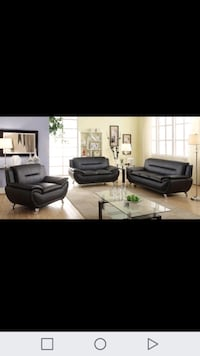 two black leather sofa chairs screenshot Houston, 77042