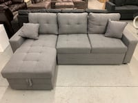 Brand new light grey fabric sectional pull out sofa bed warehouse sale 多伦多, M1P