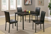Brand New 5 Piece Faux Marble Dining Set  Silver Spring, 20902