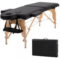 "NEW 84"" Black Portable Massage Table w/Free Carry Case-New, Unopened Centreville"