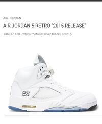 AIR JORDAN 5 RETRO size 10-with recept 2015 release