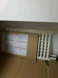 white and brown wooden bed frame Kitchener, N2N 1M2