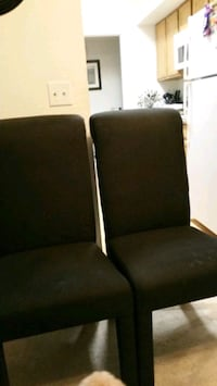 two black leather padded chairs Los Angeles, 90011