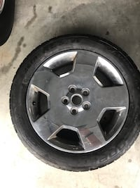 Used 18x7, 5 spoke, Alloy Chrome Plated Wheel, 9595803 Chevy rim, with tire. Leesburg, 20175