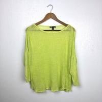 Mango neon green/yellow open knit top size M Edinburg, 78541