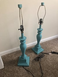 two blue and white table lamps Tampa, 33647