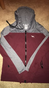 Maroon and grey VS hoodie Stillwater, 55082
