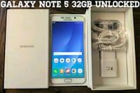 Galaxy Note 5 UNLOCKED 32GB (Like New)  Arlington