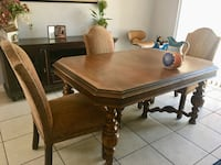 Rectangular brown wooden table with four chairs dining set Las Vegas, 89145