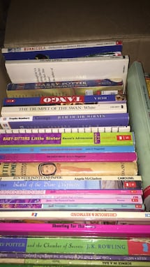 A box of books for primary kids