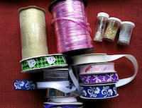 Various ribbon and glitter Burnaby