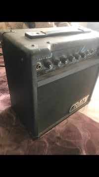 black and gray guitar amplifier Colton, 92324