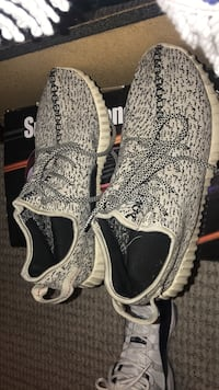 black-and-white Adidas Yeezy Boost 350