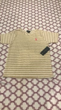 white and gray striped crew-neck shirt Airmont, 10952