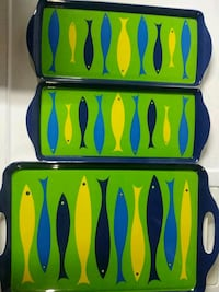 Fish themed serving trays (3 pieces)