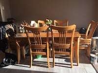 Italian wood kitchen table with 6 chairs Laval, H7R 6A8